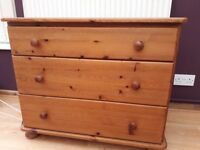 Pine Chest of Drawers and matching Dressing Table /Desk