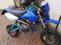 Road legal pit bike 125cc mot for a year and half and it is a 14 plate