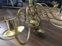 Brass chandelier 10 burner