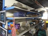 WorkShop or Shop Shelving, Heavy Duty. been used in workshop in used condition,