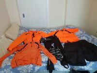 Cycling clothes size L and size 9 shoes
