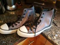 Converse leather hi top boot trainer