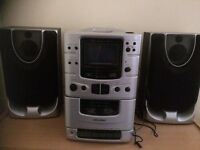 Stereo with CD player, tape & radio
