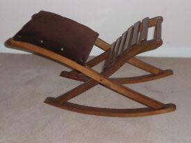 Rocking foot stool