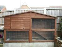 Bespoke handcrafted rabbit hutch