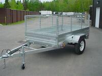 2014 US Cargo REMORQUE 56 x 8' 1 essieux galvanisee 56 x 8' 1 es