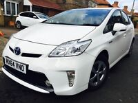 TOYOTA PRIUS 64 REG 2014 PEARL WHITE COLOUR UK CAR NOT IMPORT FULL HISTORY NOT AURIS MERCEDES YARIS