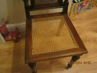1900 wood and rattan chair