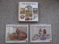 Terence Conran hardbacks - The House Book, Build Your Own Living/Dining Room Furniture books & plans