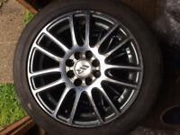 "15"" wr racing alloy wheels"