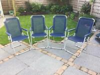 Set of 4 lightweight folding chairs
