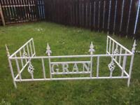 Personalised grave surrounds . Powder coated