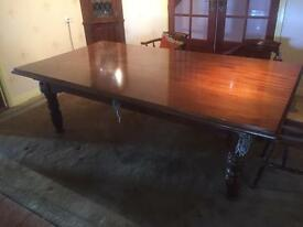 Riley Antique Snooker Dining table dating 1932