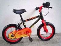 """(2200) 14"""" 9"""" APOLLO FORCE Boys Girls Kids Childs Bike Bicycle+STABILISERS Age: 3-5 Height: 95-110cm"""