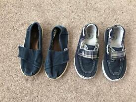 Boys shoes - polo Ralph Lauren and toms £2.00 a pair