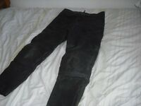 leather motor cycle trouser for sale