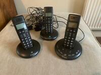 BT Graphite cordless 3 phone set