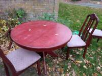 Free dinning table and chairs
