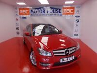 Mercedes C220 CDI AMG SPORT EDITION PREMIUM PLUS(FREE MOT'S AS LONG AS YOU OWN THE CAR!! (red) 2014