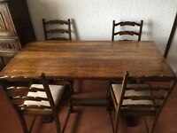 Jaycee Tudor dining table and 4 chairs