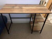 Rustic / industrial wood and metal desk