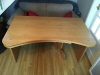 Large Solid Wood Desk with optional fold out surface