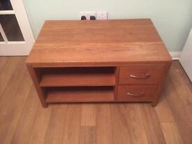 Solid oak tv unit £40 ONO