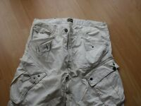 MENS G-STAR CREAM SHORTS