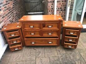 Sold-wood bedroom set.