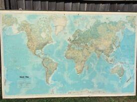 Giant Vintage World Map