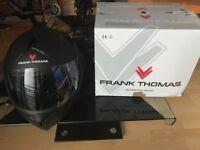 Frank Thomas Matt black flip front motorbike helmet