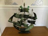 Sailing ship ornament
