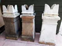 3 Victorian chimney pots for sale