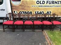6 mahogany dining room chairs 2 carvers £75