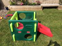 Little tikes activity gym cube slide garden toy