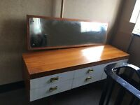 Retro Teak &melamine dressing table & mirror