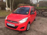 I10 HYUNDAI RED 2014 CAT C ONE YEAR MOT LOW MILES 6000 IMMACULATE CONDITION