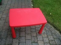 Ikea Red Table and chair