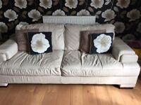 2 Leather Sofas & 1 Armchair