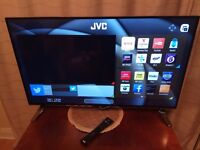 Brand New 43'' JVC Ultra HD 4K Led Smart TV remote and stand included