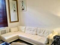 Stunning white leather 3-4 seater Dwell sofa