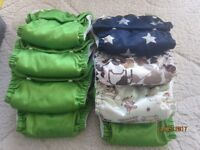 Large box of cloth nappies and accessories