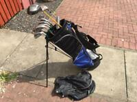 Golf Clubs. Full Set Of Irons. Driver, 7 Wood, Putter & Bag. Lovely Condition
