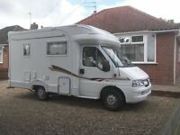 Peugeot autocruise starfire motorhome - 2005 - low milage 22900 -
