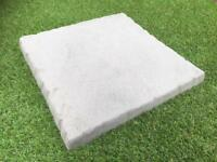 Slate Grey Charcoal 450x450mm Riven Paving Slabs Flag Stones