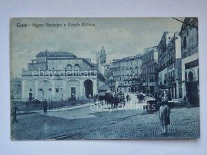 GAETA-Circolo-Militare-piazza-Municipio-animata-Latina-vecchia-cartolina