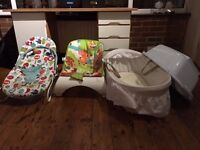 New Born Baby Items, 0-6 months, infant, Baby Travel Cots, Pushchair, Baby Car Seat, Baby Walker etc