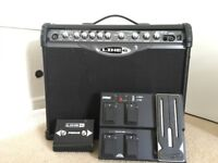 Line 6 guitar amp Spider II 75W 1x12 inch speaker amp with footswitches FBV2 & FBV express