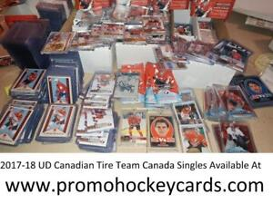 SALE! 2017-18 UD Upper Deck Canadian Tire Team Canada Base SP Retro OPC Vs Insert Canvas Singles Available