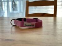 Doodlebone dog collar in Light Pink, size S
